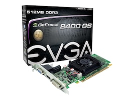 eVGA GeForce 8400 GS PCIe 2.0 x16 Low-Profile Ready Graphics Card, 1GB DDR3, 01G-P3-1302-LR, 12167879, Graphics/Video Accelerators