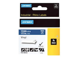 DYMO 1 2 Rhino Blue Vinyl Labels, 1805243, 13202349, Paper, Labels & Other Print Media