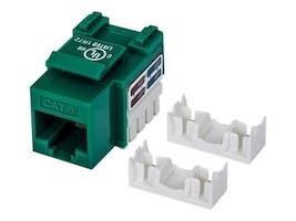 Manhattan Cat6 UTP Keystone Jack, Green, 210638, 31010754, Cable Accessories