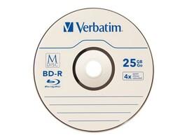 Verbatim M-Disc BD-R 25GB 4X with Branded Surface, 25-Pack, 98909, 27267565, CD Media