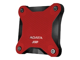 A-Data 512GB ASD600 External Solid State Drive - Red, ASD600-512GU31-CRD, 36352665, Solid State Drives - External