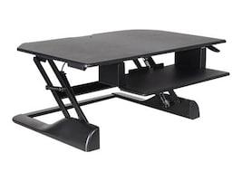 Ergotech Fully Assembled Sit Stand Desktop Workstation, Black, FDM-DESK-B, 32548513, Furniture - Miscellaneous