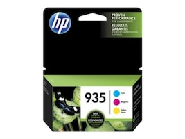 HP 935 (N9H65FN) Cyan Magenta Yellow Original Ink Cartridge Combo Pack, N9H65FN#140, 30806961, Ink Cartridges & Ink Refill Kits - OEM