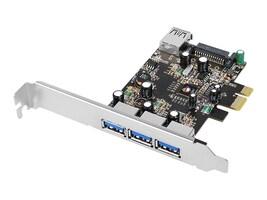 Siig USB 3.0 4-Port PCIe i e VL Card, JU-P40611-S2, 18017097, Controller Cards & I/O Boards
