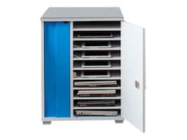 LapCabby Lyte 10-Unit Single Locking Door Cabinet, LYTE10SDBL/USA, 32831415, Charging Stations
