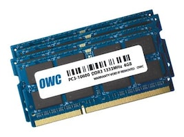 Other World 16GB PC3-10600 204-pin DDR3 SDRAM SODIMM Kit for Select iMac Models, OWC1333DDR3S16S, 35693759, Memory