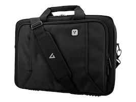 V7 14.1 Professional Toploading Briefcase, Black, CTP14-BLK-9N, 35920712, Carrying Cases - Notebook