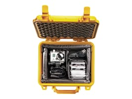 Pelican 1200 Waterproof Equipment Case with Foam, Yellow, 1200-000-240, 12627804, Carrying Cases - Other