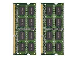 PNY 16GB PC3-12800L DDR3 SDRAM SODIMM Kit, MN16GK2D31600LV, 30877663, Memory