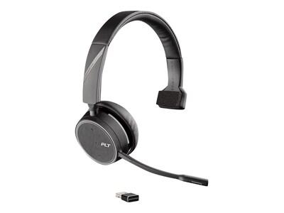 Plantronics Voayer 4210 UC BT600 USB-A Headset w  WRLSUC USB-A CABLE WW CHARD STAND, 212740-01, 37820619, Headsets (w/ microphone)