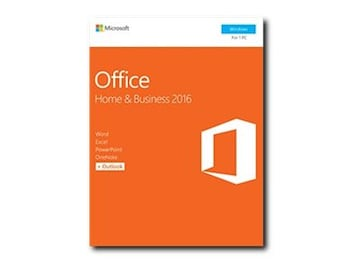Microsoft Office Home and Business 2016 for Windows NA Only Medialess P2 (No Returns), T5D-02776, 32014589, Software - Office Suites