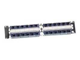 Siemon 24-Port Jack Panel on 19 Panel T568A B Wiring 2U, S110DB5-24RJP, 5835971, Patch Panels