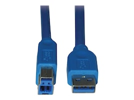 Tripp Lite USB 3.0 Super Speed Device Cable, USB Type A to USb Type B (M-M), Blue, 6ft, U322-006, 11100891, Cables