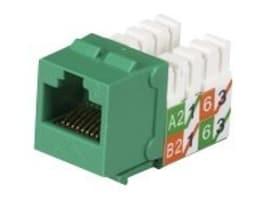 Black Box GigaTrue2 CAT6 Jacks, Universal Wiring, Component Level, 25-Pack, Green, FMT634-R3-25PAK, 33007364, Cable Accessories