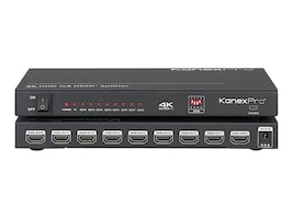 Kanex 4K UHD 1x8 HDMI Distribution Amplifier with HDCP2.2, HDSP184K, 35241744, Video Extenders & Splitters