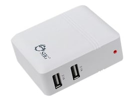 Siig 4.2A USB Power Adapter, 2-port, White, AC-PW0K12-S1, 16843660, Power Converters