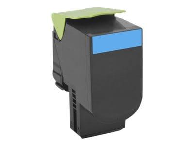 Lexmark 801HC Cyan High Yield Return Program Toner Cartridge, 80C1HC0, 14909549, Toner and Imaging Components - OEM