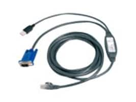 Avocent USB Cat5 Integrated Access Cable for AutoView KVM Switches, 10ft, USBIAC-10, 5923103, Cables
