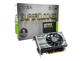 eVGA GeForce GTX 1050 Ti SC GAMING PCIe 3.0 Graphics Card, 4GB GDDR5, 04G-P4-6253-KR, 33033933, Graphics/Video Accelerators