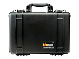 Pelican 1504 Hard Case w  Padded Dividers & Lid, Black, 015000-0040-110, 34304619, Carrying Cases - Other