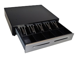 M-s Cash Drawer EP-125K with Media Slots, Black, Order Cabling Separately, EP-125NK-M-B, 11308553, Cash Drawers