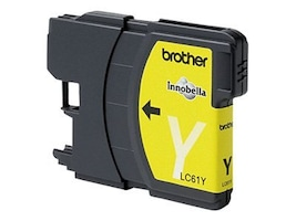 Brother Yellow LC61Y Ink Cartridge for MFC-6490CW, LC61Y, 8688831, Ink Cartridges & Ink Refill Kits