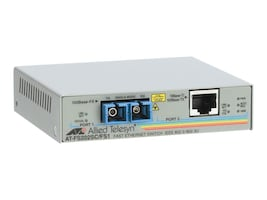 Allied Telesis 10 100BaseTX to 100BaseFX SC Media Converting Switch, AT-FS202-90, 6046712, Network Switches