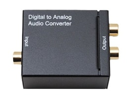Syba Digital to RCA Analog 192kHz 24bit Audio Converter, SY-AUD60011, 34152408, Scan Converters