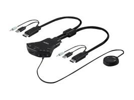 Belkin Secure 2-Port DisplayPort Single-Link KVM w  Audio and Remote Controller, F1DN102N-3, 25876295, KVM Switches