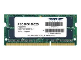 Patriot Memory 8GB CL11 1600MHz SODIMM, PSD38G16002S, 41047524, Memory