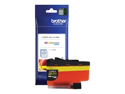 Brother Yellow LC3035Y INKvestment Tank Ultra High Yield Ink Cartridge, LC3035Y, 35855615, Ink Cartridges & Ink Refill Kits - OEM