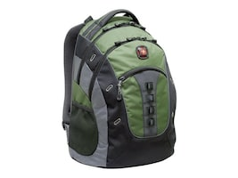 Wenger SwissGear GRANITE Backpack for 15.6 Notebook, Green, GA-7335-07F00, 34293278, Carrying Cases - Notebook