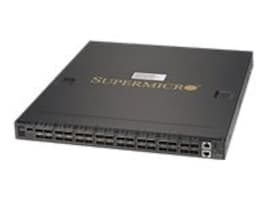 Supermicro 32-Port 100GBE QSFP28 Switch w B2F Airflow, 2x800W HF, SSE-C3632SR, 32853999, Network Switches