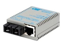 Omnitron MIConverter S GXT 10 100 1000Base-T to 1000Base-X 13 15 20KM, US Power w temp, 1630-1-1W, 32920750, Network Transceivers