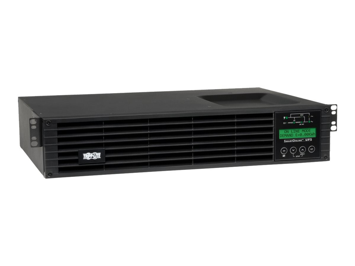 Tripp Lite SmartOnline 1kVA Online Double-conversion UPS, 2U Rack Tower, SU1000RTXLCD2U, 14053752, Battery Backup/UPS