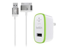 Belkin Home Charger for iPad, 10W 2.1A, 30-pin Cable, White, F8J141TT04-WHT, 17742107, Battery Chargers
