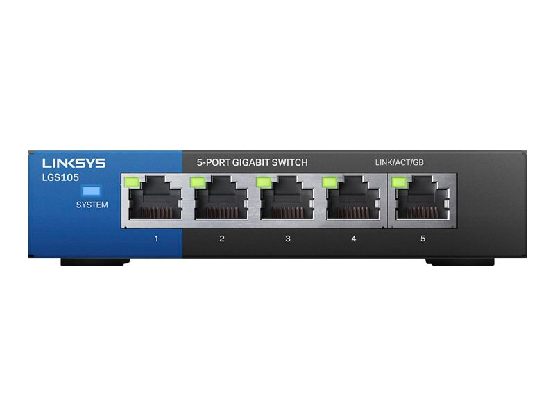 Linksys 5-Port Gigabit Switch, LGS105, 16303583, Network Switches