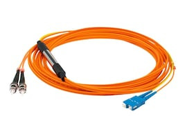 ACP-EP (2) ST 62.5 125 to (1) SC 62.5 125 & (1) SC 9 125 Fiber Conditioning Patch Cable, 3m, ADD-MODE-STSC6-3, 15641812, Cables