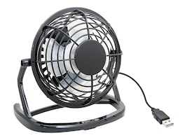 Syba Compact USB Desk Fan, USB Powered with On Off Switch, Black, SY-ACC65055, 34151528, Office Supplies