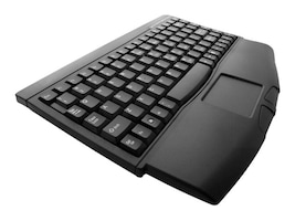 Adesso Mini-Touch Keyboard with Touchpad, PS 2, Black, ACK-540PB, 435908, Keyboards & Keypads