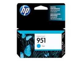 HP 951 (CN050AN) Cyan Original Ink Cartridge, CN050AN#140, 12974304, Ink Cartridges & Ink Refill Kits