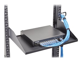 Black Box 2U 19 Heavy Duty Fixed Rackmount Vented Shelf, RMTS00, 34661712, Rack Mount Accessories
