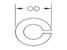 Panduit 1 4 Split Lock Washer, Silicon Bronze, 100-Pack, SBSLW25-C, 35288260, Mounting Hardware - Network