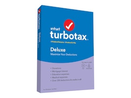 Intuit TurboTax Deluxe (No State) 2019 DVD, 607320, 37871336, Software - Tax & Legal