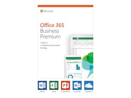 Microsoft Office 365 Business Premium Medialess 1-year Subscription, KLQ-00378, 36224639, Software - Office Suites