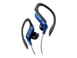 JVC In Ear Sports Clip Headphones, Blue, HAEB75A, 11138161, Earphones