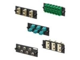 Panduit LC OS1 OS2 FAP w 8xLC Duplex SM Fiber Optic Adapters (Blue), FAP8WBUDLCZ, 34592315, Patch Panels