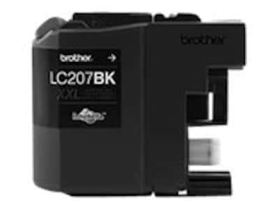 Brother Black LC207BK Super High Yield Ink Cartridge, LC207BK, 17539598, Ink Cartridges & Ink Refill Kits - OEM