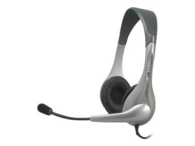 Cyber Acoustics Stereo Headset with Boom Microphone, AC-201, 5452760, Headsets (w/ microphone)