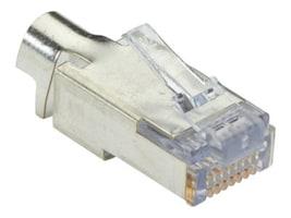Black Box Shielded CAT6 EZ-RJ45 Modular Plugs, 25-Pack, C6EZSP-25PAK, 17390906, Cable Accessories